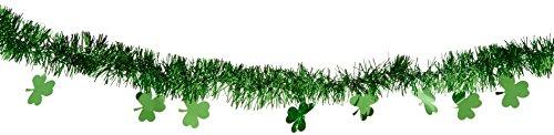 Amscan International Guirlande de Noël Verte à trèfles de 4,5 m - 229024
