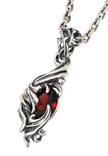 [ジゴロウ] GIGOR ジィースペンダント タイプ2 シルバー 925 ネックレス (ブルートパーズ 60cm) ペンダント 天然石 メンズ 男性用 銀
