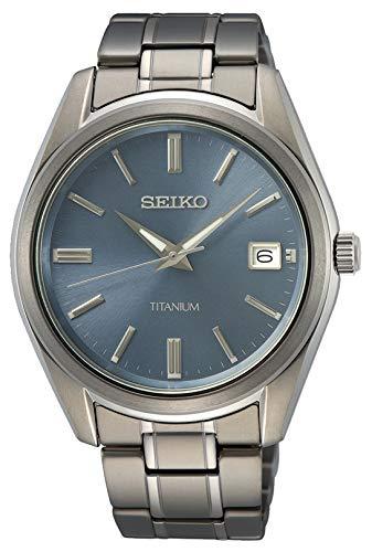 Seiko - Reloj analógico de Cuarzo japonés para Hombre, con Correa de Acero Inoxidable