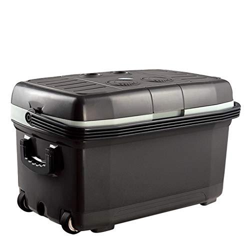 Faprol Diepvrieskast voor in de auto, 45 liter, camping, mini-koelkast met handvat en wielen, minimale koeltemperatuur 5 graden