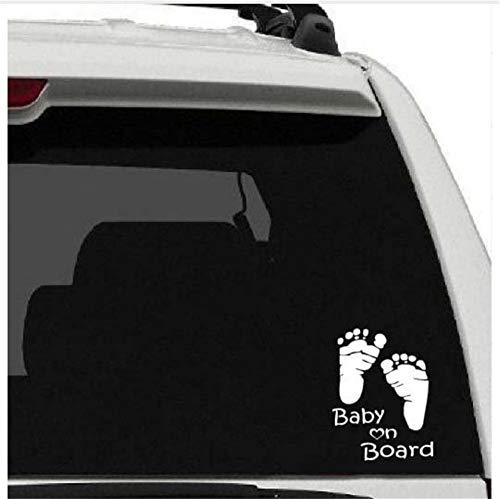 Waofe Amovible Voiture Fenêtre Autocollant Bébé À Bord Sticker Bébé Pied Empreintes Murales Stickers Voiture Nouveau Design Voitures Décor 15X19Cm