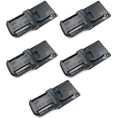 Cobeky Paquete de 5 soportes de batería para soporte de batería de 18/20 V para herramientas de la serie M18 de 18 V, color negro