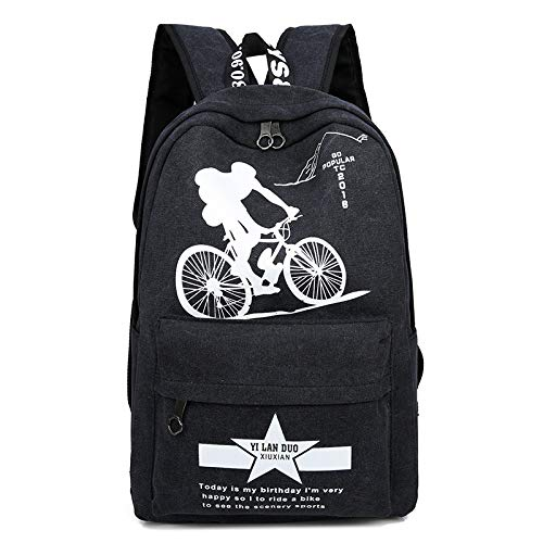 LHLHMSac À Dos Pour Hommes En Toile Sac À Dos Décontracté Junior High School Student High School Student Travel Casual Backpack Canvas Cartable Boy