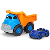 Green Toys Dump Truck Orange with Blue Race Car