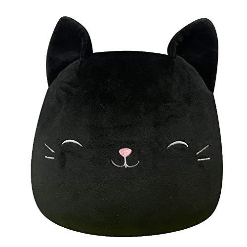25-80cm Stuffed Animals Soft Big Plushie Unicorn Cat Pillow Kawaill Room Decor Sleep Cushion Birthday Gifts for Kids Girls 80CM Black
