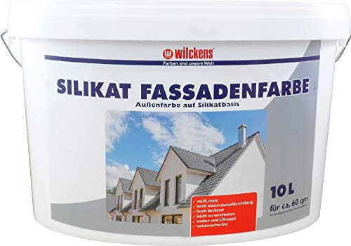 10 L Wilckens Silikat Fassadenfarbe Weiss Fassade Wandfarbe Außen