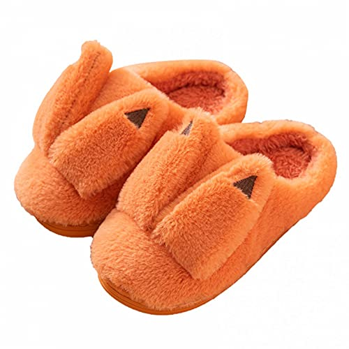 Hausschuhe Kinder Junge 33 Slippers Mädchen Plüschhausschuhe Home Hüttenschuhe Plüsch Hausschuh Winter Warme Gefüttert Kinderschuhe drinnen und draußen Pantoffeln