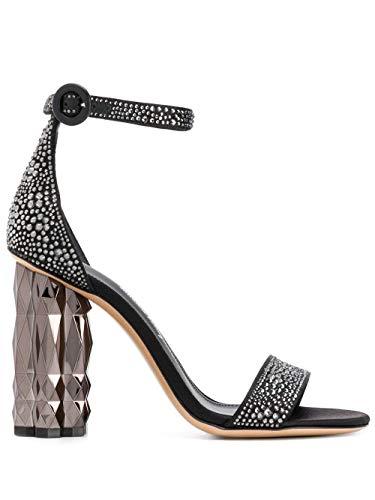 SALVATORE FERRAGAMO Luxury Fashion Donna 716565 Nero Pelle Sandali |...