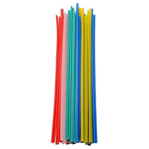 Schweißstäbe Set,Schweißelektroden Rod 5 Farben 50pcs 25cm Länge Kunststoff-Schweißstäbe Welder-Sticks for Löten Blau/Weiß/Gelb/Rot/Grün Universale Elektrode zum Schweißen