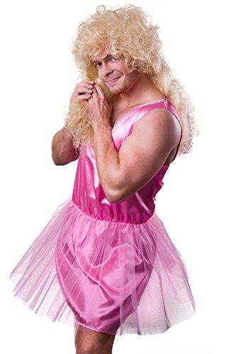 TH-MP Tooth Fairy Costume Men's Pink Ballerina Ballet Dancer Men Fancy Dress Stag Night