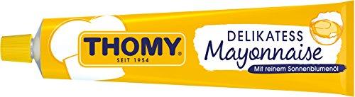 THOMY Delikatess-Mayonnaise mit reinem Sonnenblumen-Öl für Saucen, Kartoffelsalat und und Dips, 200ml Tube