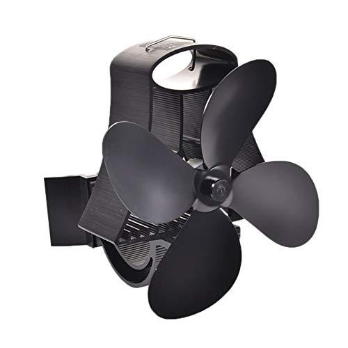 JEONSWOD Ventilador de Estufa con energía térmica para Colgar en la Pared de 4 Cuchillas, Ventilador de Techo ecológico con energía térmica, Sala Grande para Chimenea, Quemador de leña