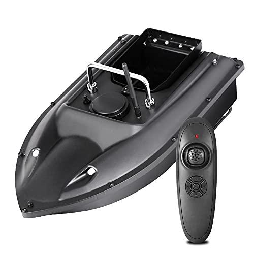 WQQWQQ Barco de Cebo, Barco de Cebo de Pesca, RC Fish Lure Boat 500M Cebo inalámbrico Casting Yate Fish Finder Barco, Verde, Arrastre de Pesca con Control Remoto. (Color : Black)