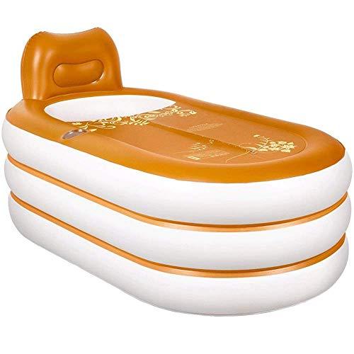 Opblaasbare Portable Badkuip, Duurzaam bad met Grote Achterkant, Vrijstaande opblaasbaar zwembad Badkamer Huis Spa 152 * 85 * 45CM QIANGQIANG