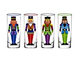 Godinger Shot Glasses Shooters Holiday Nutcracker Theme Christmas Cups - Set of 4