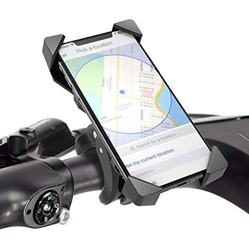 FYLINA Anti-Shake Handyhalterung Fahrrad Motorrad Handy-360° Drehbare Halter Verstellbarer Smartphone Halter - 6