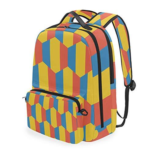 2 in 1 Rucksack mit der Flagge von Romania abnehmbare Schultertasche Schultasche Reisetasche Daypack