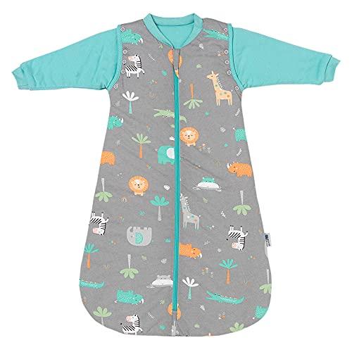 Slumbersac Saco de Dormir Bebe para Todo el año 0-6 Meses Forest Safari 2.5 TOG | Saco de Dormir niños con Mangas largas 70 cm | Saco Bebe 0-6 Meses
