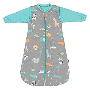 Slumbersac Saco de Dormir Bebe para Todo el año 6-18 Meses Safari 2.5 TOG   Saco de Dormir niños con Mangas largas 90 cm   Saco Bebe 0-6 Meses