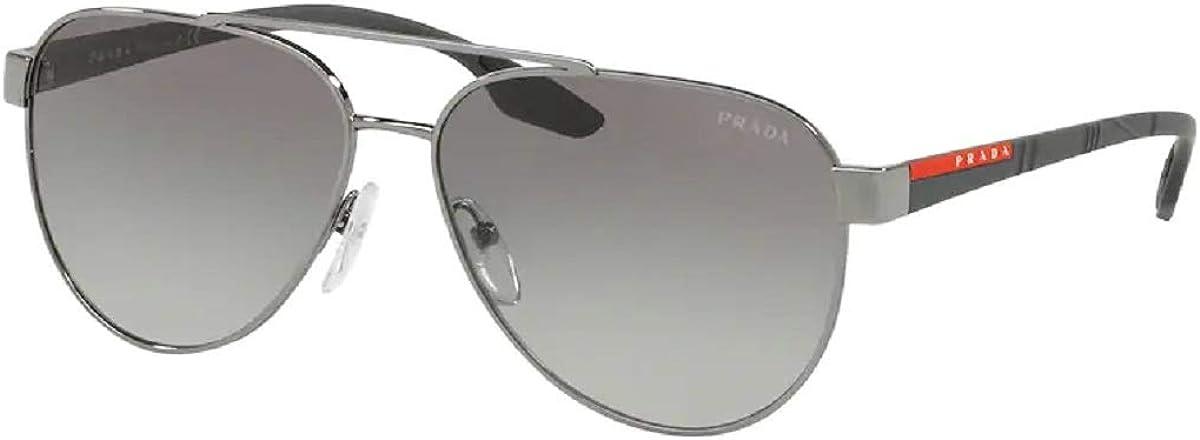 Prada PS54TS LIFESTYLE Pilot Sunglasses For Men+FREE Complimentary Eyewear Care Kit