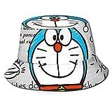 Doraemon Micrófono Bucket Sun Hat para Hombres Mujeres -Protección Packable Summer Fisherman Cap para Pesca, Safari, Beach Boating Black