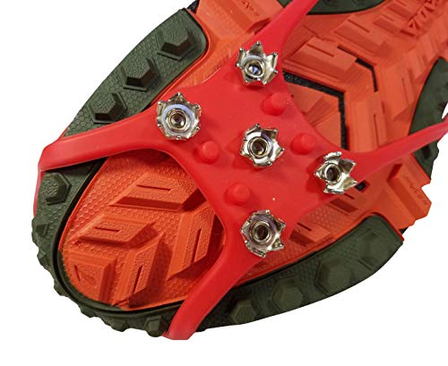 Nano Spikes Traction Cleats for Running on Icy Streets and Trails