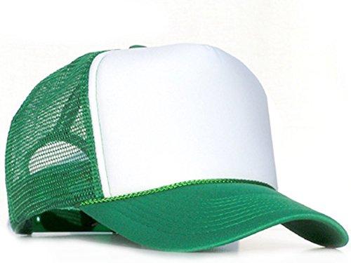 Raphia Art Green casquette en maille de White