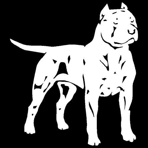 A/X Sticker de Carro 13,5 * 15,1 CM Pit Bull American Staffordshire Terrier Perro Animal calcomanía Estilo de Coche Pegatinas de decoración C6-1110