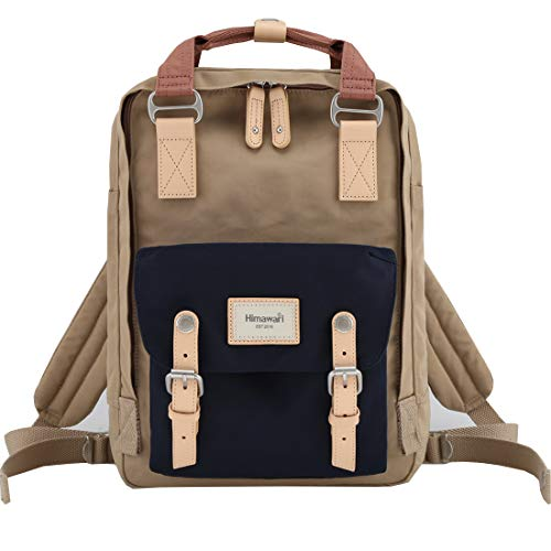 "Himawari School Functional Travel Waterproof Backpack Bag for Men & Women | 14.9""x11.1""x5.9"" | Holds 13-in Laptop (HIM-57#)"