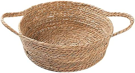 Nevup Cat Bed Round Straw Basket Cushion Sleeping C Mat Pet Daily bargain Directly managed store sale