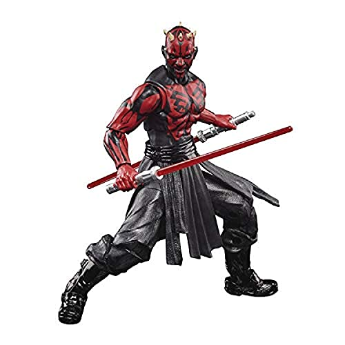 Star Wars The Black Series - Darth Maul (Sith Apprentice) - Figura a Escala de 15 cm - Figura del 50.º Aniversario de Lucasfilm - Edad: 4+