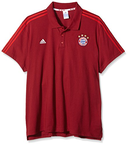 adidas 2015-2016 Bayern Munich 3S Polo Shirt (Red)