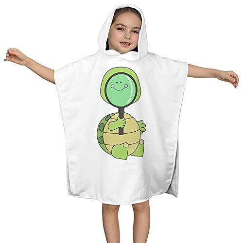 Toalla con Capucha Turtle Baby Animal, Toalla de baño con Capucha para niños, Toalla Absorbente de Microfibra Ultra Suave, Capa de baño con Capucha para niños de 2 a 7 años 23.7X23.7in