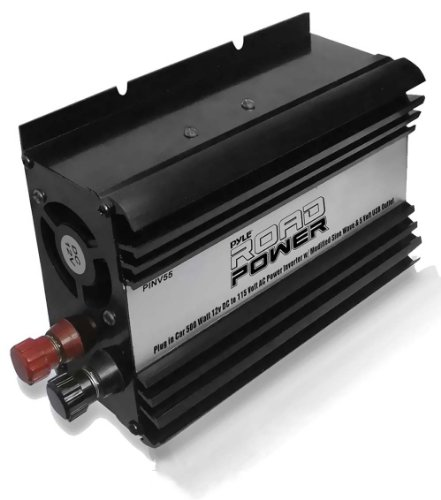 Pyle PINV55 Plug In Car 500 Watt 12V DC to 115 Volt AC Power Inverter with Modified Sine Wave and 5 Volt USB Outlet
