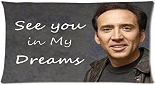 Nicoge Custom Nicolas Cage Pillowcase Standard Size Design Cotton Pillow Case P-170 20