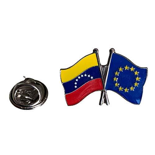 Gemelolandia | Pin de solapa Amistad Union Europea Venezuela | Complementos Originales de Hombres y Niños Para Chaquetas, Americanas o Jerséis | Regalos Para Cumpleaños, Bodas, Comuniones, Bautizos