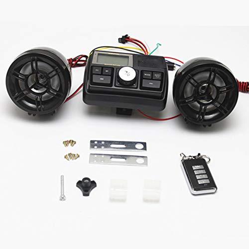 Peanutaod wasserdichte 12 V Motorrad Fahrrad FM Radio USB TF MP3-Player Dieb Stereo Lautsprecher Audio-Sound-System mit Fernbedienung