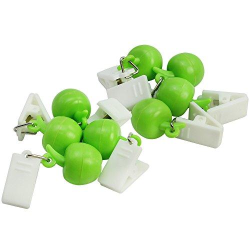com-four® 8X Tischdeckenbeschwerer mit Klammern - Tischtuchgewichte im Früchte-Design, 18g (8 Stück - Apfel)