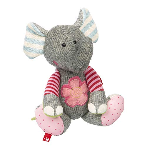 Sigikid Sigikid38709 Mädchen und Jungen, Stofftier Elefant, Patchwork Sweety, Grau, 38709