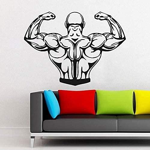 Pegatinas De Azulejos De Pared Tradicionales Ali Muscle Man Bodybuilding Gym Weight Power Lift Habitación De Los Niños Sala De Estar Dormitorio Diy Pegatinas De Pared Vinilo 57X42Cm