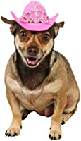 Rubie's Pink Cowgirl Dog Hat with Tiara, S/M