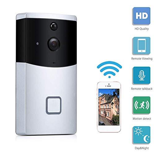 KUKUDIJIE Draadloze HD Smart Video Deurbel Waterdichte Nachtzicht PIR Bewegingsdetectie Real-Time Twee-weg Talk WiFi Beveiligingscamera
