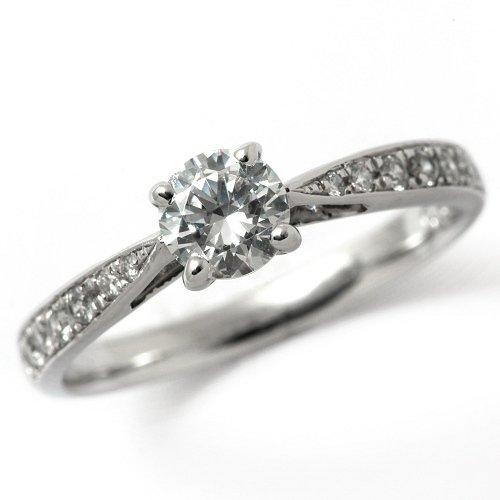 婚約指輪 ケース付 ダイヤモンド プラチナ 0.6カラット 鑑定書付 0.625ct Dカラー VS2クラス 3EXカット H&C CGL サイズ14号