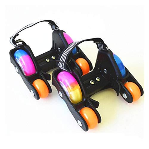 Ruedas En LíNea,Ruedas Para Patines Los niños adultos Flashing Roller zapatos del patín de ruedas con tacón caliente Deportes Patines Rodillos Zapatos En línea patinando ( Color : 2 wheel orange )