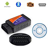 FStyler ELM327 Bluetooth ELM 327 V2.1 Interface OBD2/OBD II Auto Car Diagnostic Scanner OBD Reader...