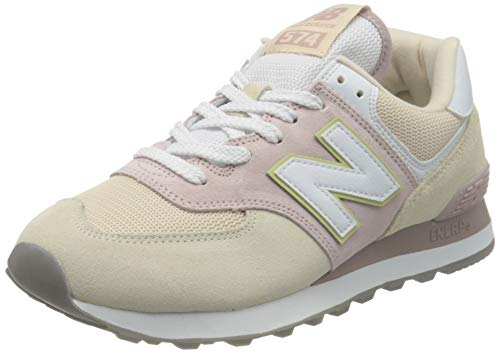 New Balance Damen 574 WL574LBL Medium Sneaker, Pink (Space Pink LBL), 40.5 EU