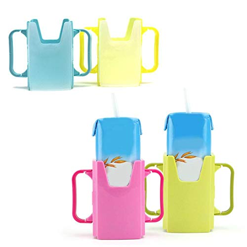 no brand Telescopic Baby Toddler Juice Milk Safety Box Bottle Cup Holder with Handles 2019, Blue