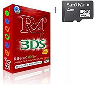 Free Delivery R4I RTS+4GB memory sd card for NDSL 3DSLL