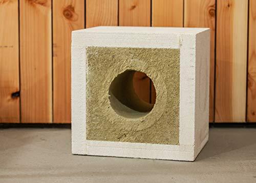 Brandschutz Wanddurchführung für 150 mm Ofenrohr variabel kürzbar bis 36 cm Wandstärke