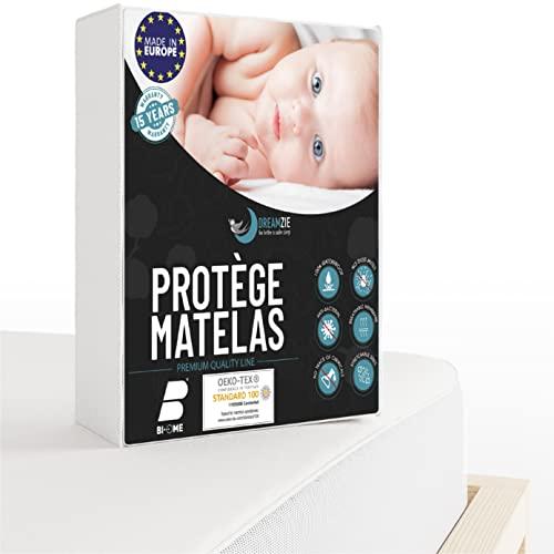 Dreamzie - Protege Matelas 60 x 120 cm Imperméable - Alèse Premium Oeko-TEX® Hypoallergénique - Protection Contre Acariens et Bactéries - Couvre et Protège-Matelas Respirant & Anti-Moisissure